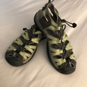 Keen Green and Gray Whisper Waterproof Sandals